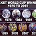 क्रिकेट वर्ल्ड कप की विजेता टीमें | Cricket World Cup winning teams