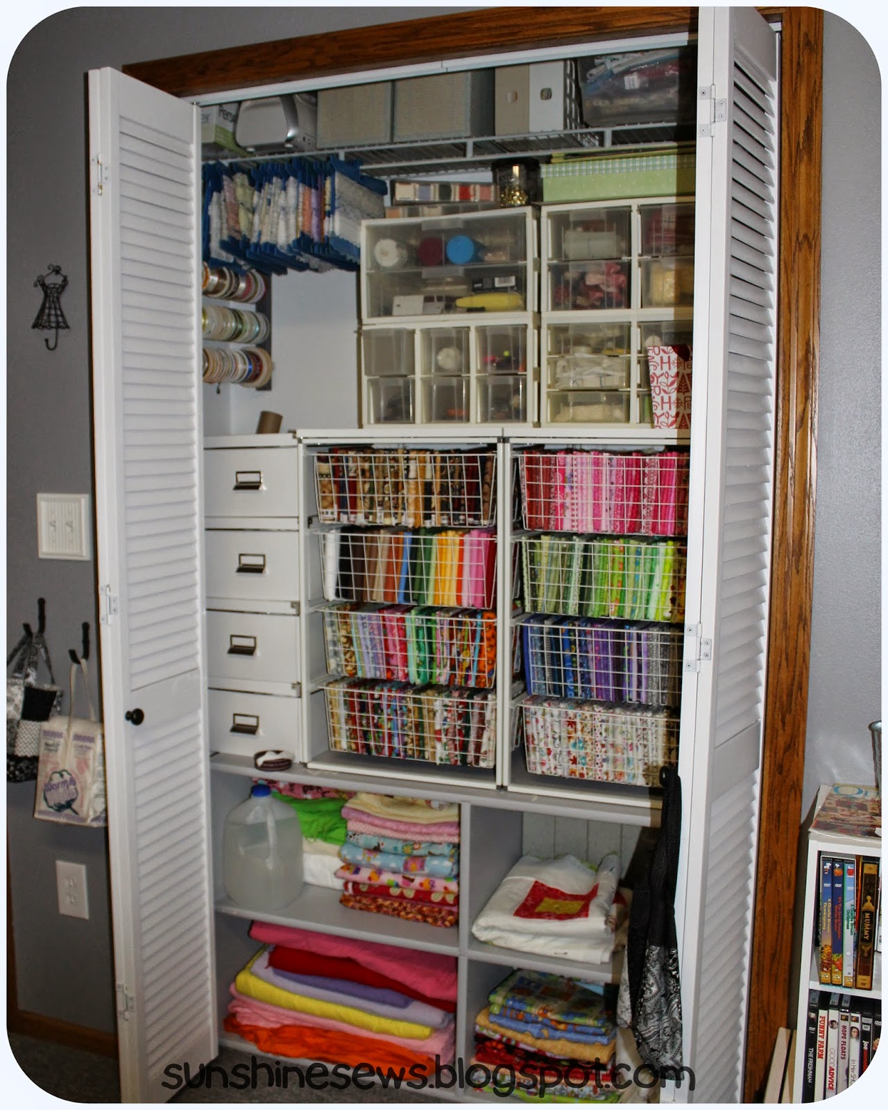 Sewing Room Closet Makeover