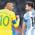 القنوات المفتوحة الناقلة لمباراة البرازيل والأرجنتين مجانا اليوم مباشرة