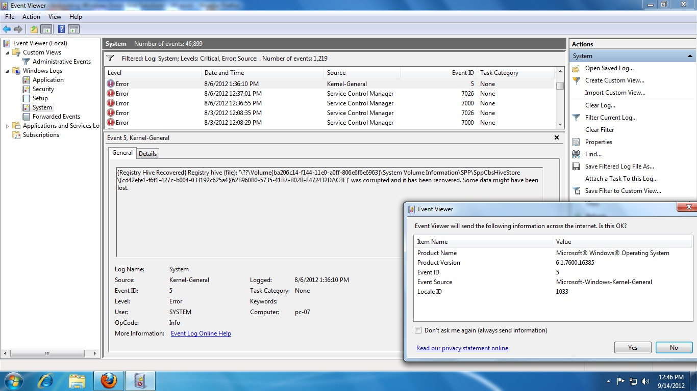 Event 16385 Security Spp