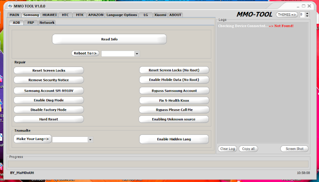 MMO Tool v1.0.0 Latest Android Tool For Samsung,HTC,LG,MTK,SPD,Xiaomi, Huawei Unlock & Bypass