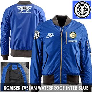 Jaket Bomber Jokowi Pilot Inter Milan Blue