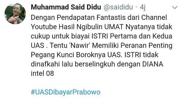 Ustadz Abdul Somad Difitnah