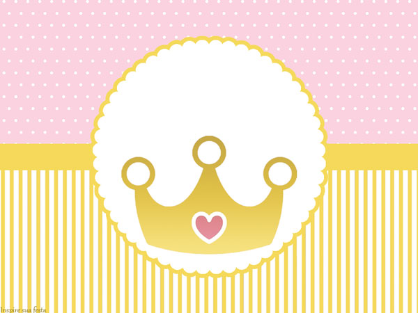Golden Crown in Pink: Free Printable Invitations, Boxes and Free Party ...