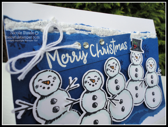 Flurry of Snowmen using Stampin' Up!'s Snowman Season plus Snowfall Accents Puff Paint