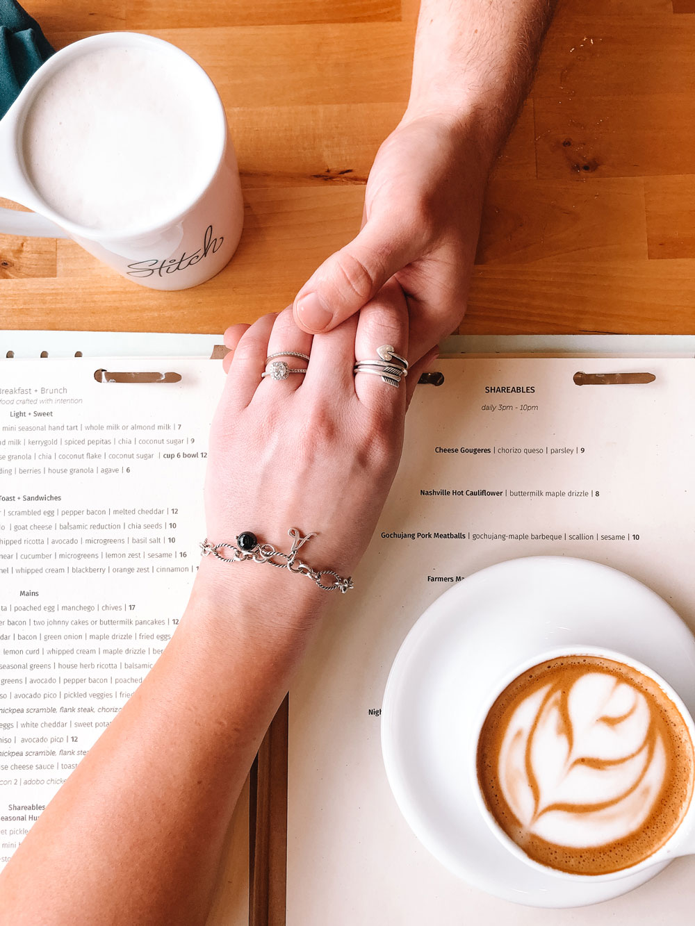 Coffee at Stitch Cafe in Oklahoma City + James Avery charms