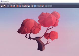 3D Low Poly Tree sudah selesai