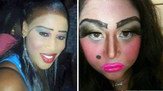 mulheres que deveriam ser proibidas de usar maquiagem