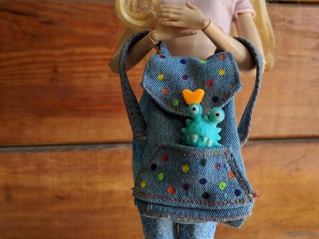 Джинсовый рюкзак для куклы + выкройка