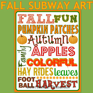 FREE Fall Subway Art Printable from MomOnTimeout.com #free #printable #fall