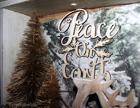 Christmas vignette made in a wooden drawer