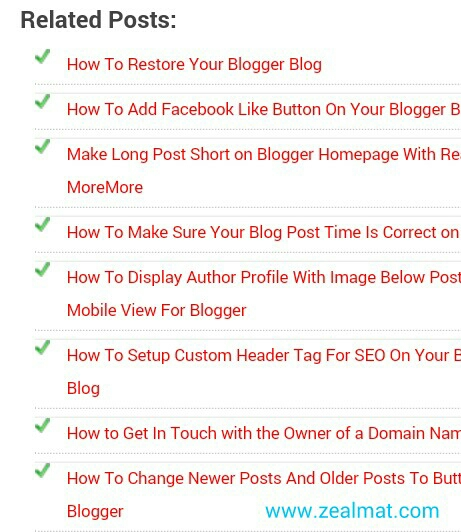 How to Add Related Posts Below Every Post on Blogger