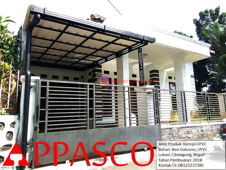 Kanopi Minimalis Modern Keren Atap UPVC di Cibalagung Bogor