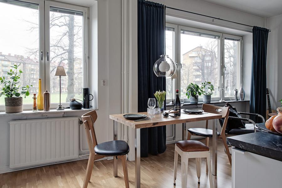 Salón diáfano conectado con la cocina