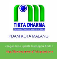 Lowongan Kerja Terbaru PDAM Kota Malang