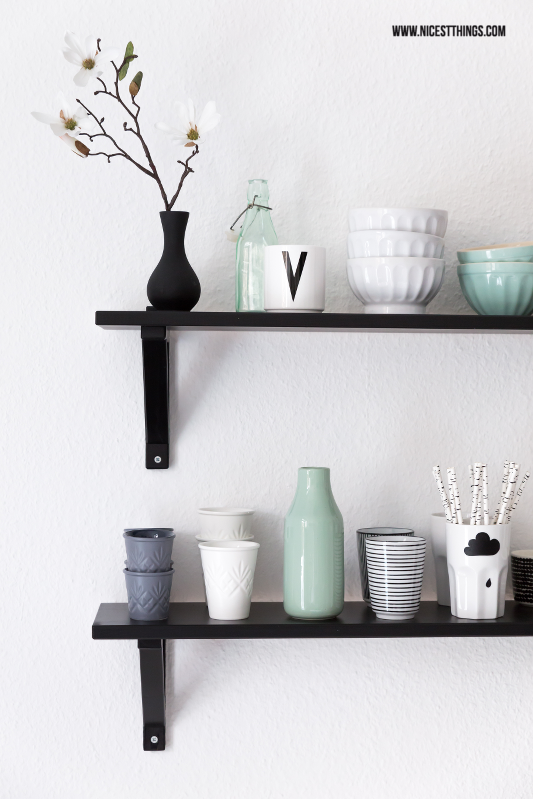 Mint Kitchen Shelves