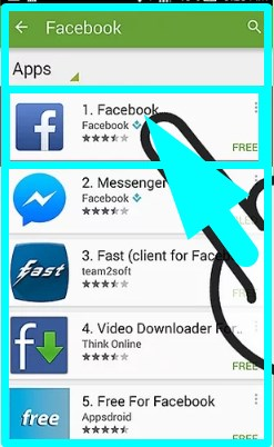 how to install facebook app on android