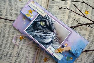 конверт для денег с котиком