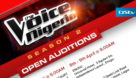 the voice nigeria season 2 auditions