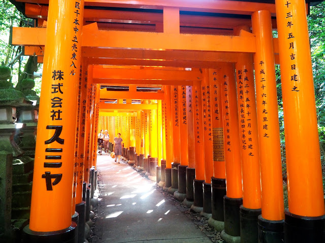 Vermillion gates at Fushimi Inari Taisha Shrine, Kyoto, Japan