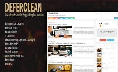 Deverclean бесплатный шаблон для blogger