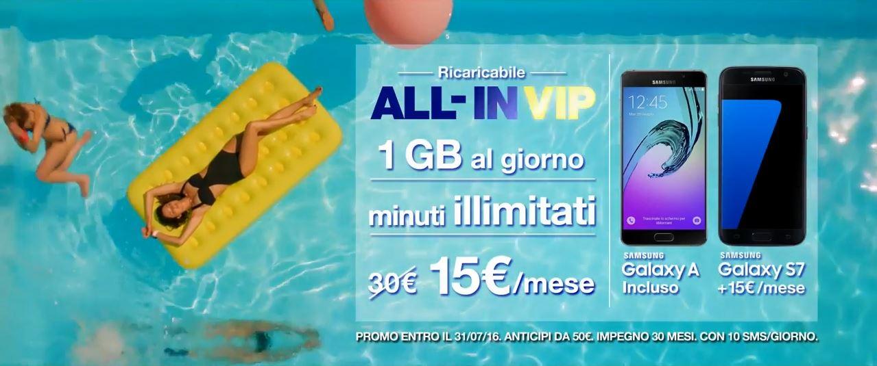 Canzone spot Pubblicitario 3 Tre All-IN VIP con Samsung S7 - Spot Luglio 2016