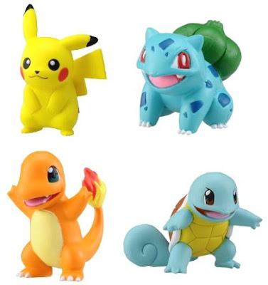 Pokemon Figure Tomy MC Pikachu Bulbasaur Charmander Squirtle