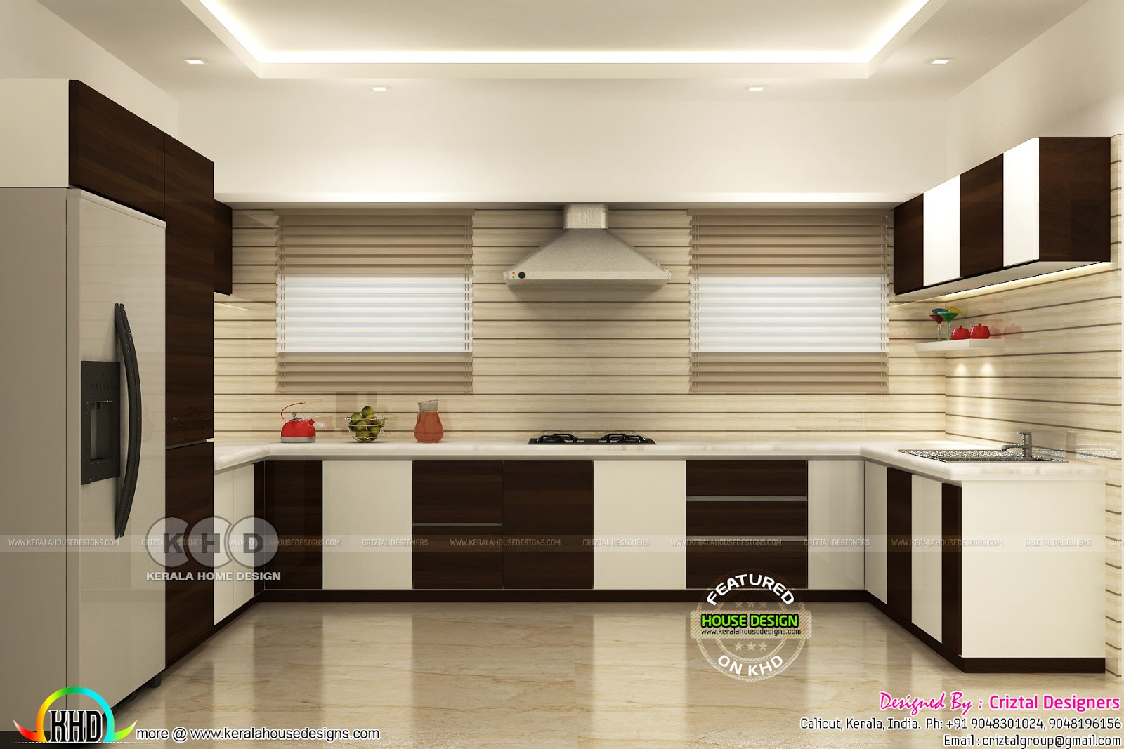 Kitchen, living bedroom interior designs - Kerala home ...