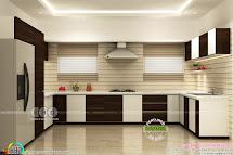 Kitchen Living Bedroom Interior Design - Kerala Home