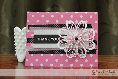 Thank You Card and Twine Flower by Juliana Michaels