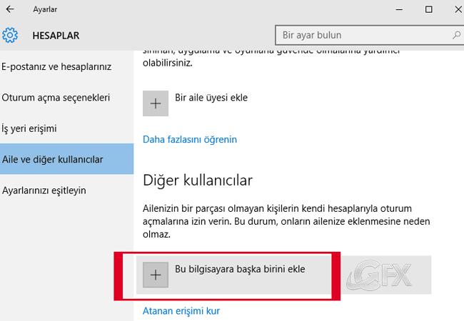Bu bilgisayara başka birini ekle