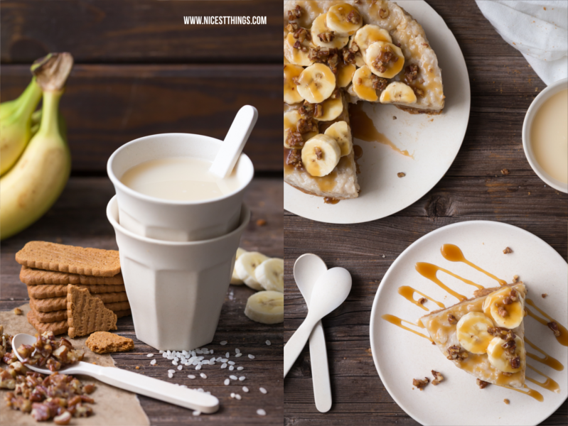 Milchreiskuchen mit Bananensaft