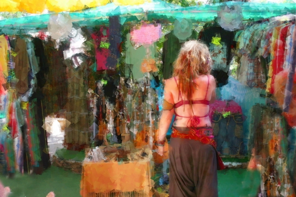 mercadillo hippie ibiza, fotos imporesionistas imágenes, fotos, foto pinturas, fotografías creativas de ibiza y formentera, arte digital, expresionismo,