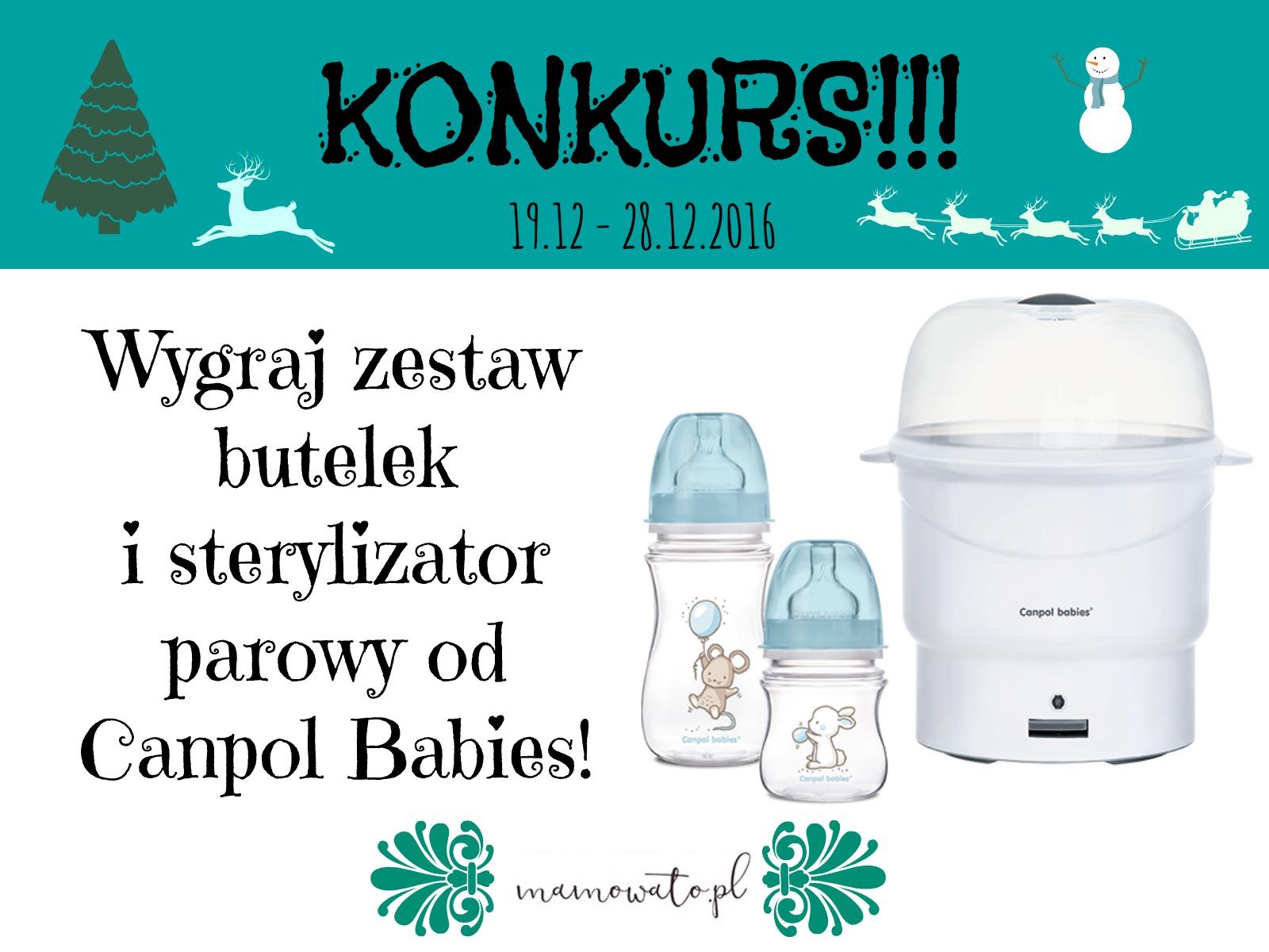 Zestaw butelek i sterylizator parowy od Canpol Babies