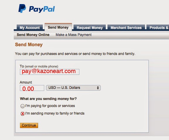 Kazone Art Academy: Online & Credit card payment method