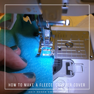 DIY: How to Make a Fleece Crupper Cover