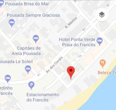 Imagem que mostra com exatidão a localização do condomínio Imperial, condomínio este que tem um apartamento tipo estúdio para vender.