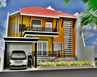 Simple 2-storey minimalist home design - Lampung interior house