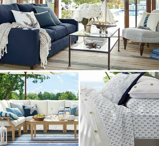 Anchor Your Style With Pottery Barn S Navy Blue And White Nautical Decor Ideas For Inside Outside The Home