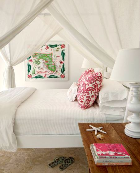 Ideas for Romantic Tropical Canopy Beds - Coastal Decor ...