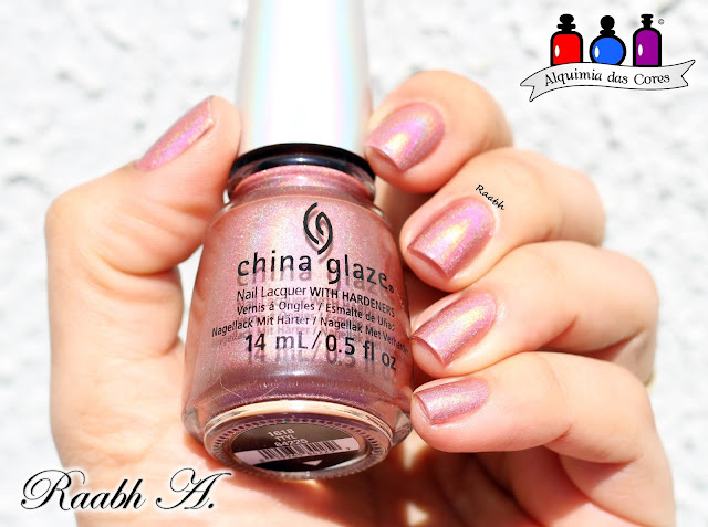 China Glaze, China Glaze OMG, China Glaze TTYL, Esmalte Holográfico, Coral, Raabh A. 2018