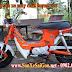 Sơn xe máy Honda Chaly màu cam cực đẹp