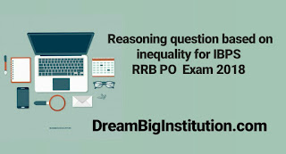 Reasoning Questions Based on Inequality For IBPS RRB PO - Dream Big