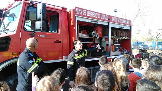 Ενημέρωση μαθητών και καθηγητών του 2ου Γυμνασίου Ναυπλίου από την Πυροσβεστική για τις δασικές φωτιές
