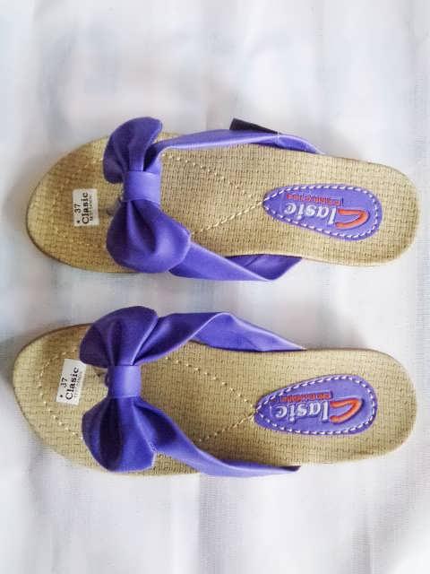 sandal classic pita ungu wanita dewasa