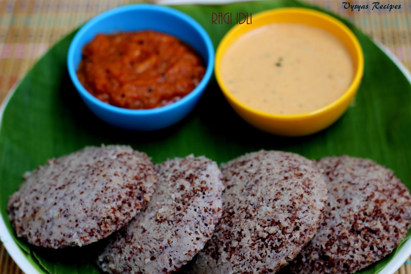 Vysya's Delicious Recipes: Ragi Idli Recipe