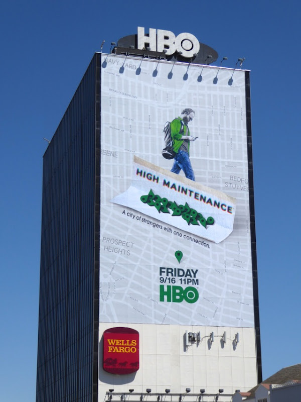 Giant High Maintenance series premiere billboard