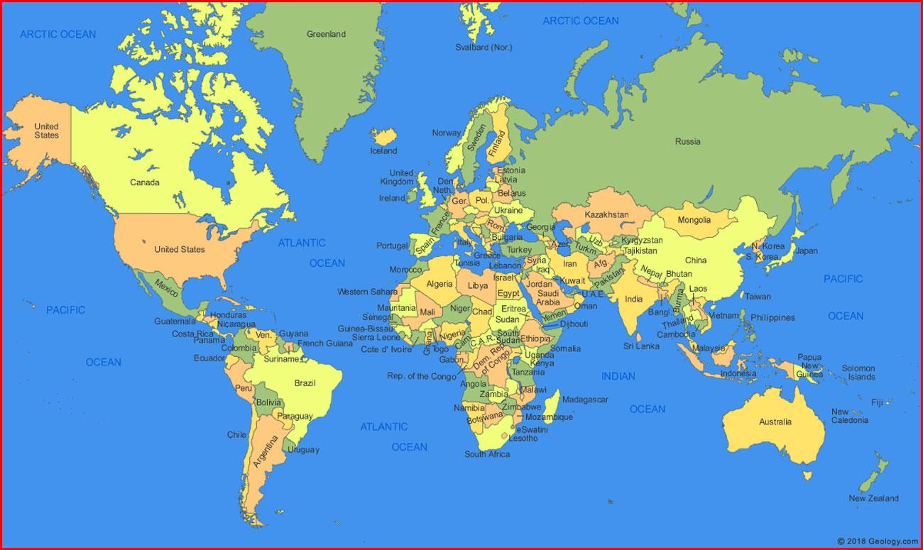 image: New World Map High Resolution