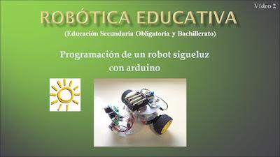 Vídeo tutorial programación de un robot sigueluz con arduino