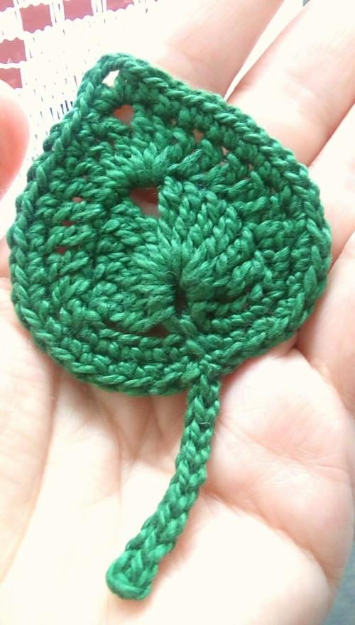 Crochet Leaf - Tutorial